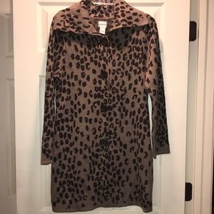 Chico's Leopard Print Duster Cardigan